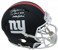 "Lawrence Taylor Signed New York Giants Full-Size Matte Black Authentic On-Field Speed Helmet Inscribed ""LT Was A Bad M***** F*****"" (PSA COA) at PristineAuction.com"
