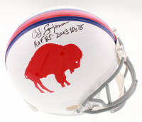 "O. J. Simpson Signed Buffalo Bills Full-Size Authentic On Field Helmet Inscribed ""H.O.F. 85"" & ""2003 Yrds 73'"" (JSA COA)"