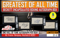 """GREATEST OF ALL TIME"" – Beckett Encapsulated BOXING Autograph Mystery Box"
