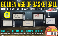 """""""GOLDEN AGE OF BASKETBALL"""" – HALL OF FAME AUTOGRAPH EDITION MYSTERY BOX!"""
