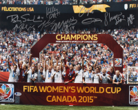 2015 Team USA FIFA Women's World Cup Champions 16x20 Photo Signed by (9) with Carli Lloyd, Julie Ertz, Shannon Boxx, Alyssa Naeher (Beckett LOA) at PristineAuction.com