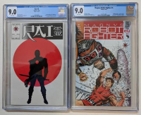 "Lot of (2) CGC Graded Valiant Comic Books with 1991 Magnus, Robot Fighter Issue #5 (CGC 9.0) & 1992 ""Rai"" Issue #0 (CGC 9.0) at PristineAuction.com"