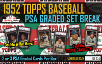 1952 Topps Baseball PSA Graded Set Break Mystery Box! 2 or 3 PSA Graded Cards Per Box
