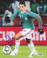"Javier ""Chicharito"" Hernandez Signed Team Mexico 8x10 Photo (PSA COA)"