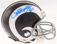 """Jack Youngblood Signed Los Angeles Rams Mini Helmet Inscribed """"HOF 01"""" (Schwartz COA)"""