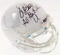 "Warren Sapp Signed Miami Hurricanes Mini Helmet Inscribed ""All About the U"" (Beckett COA) at PristineAuction.com"