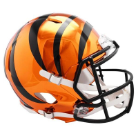 Cincinnati Bengals Full-Size Chrome Speed Helmet