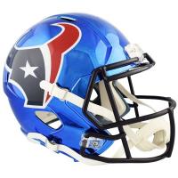 Houston Texans Full-Size Chrome Speed Helmet