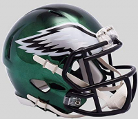 Philadelphia Eagles Full-Size Chrome Speed Helmet