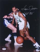 "Sam Jones Signed Boston Celtics 11x14 Photo Inscribed ""HOF 83"" (PSA Hologram)"