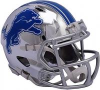 Detroit Lions Full-Size Chrome Speed Helmet