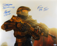 """Steve Downes Signed """"Halo 3"""" 16x20 Photo Inscribed """"Master Chief"""" & """"Finish The Fight"""" (Beckett COA) at PristineAuction.com"""