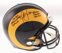 Marshall Faulk Signed St. Louis Rams Full-Size Authentic On-Field Helmet with (6) Career Stat Inscriptions (JSA COA)