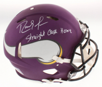 "Randy Moss Signed Minnesota Vikings Full-Size Authentic On-Field Speed Helmet Inscribed ""Straight Cash Homie"" (JSA COA)"