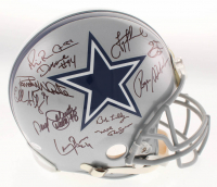 Dallas Cowboys Legends Full-Size Authentic On-Field Helmet Signed by (24) with Troy Aikman, Emmitt Smith, Roger Staubach, Mel Renfro, Bob Lilly (JSA COA)