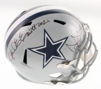 Ezekiel Elliott & Dak Prescott Signed Dallas Cowboys Full-Size Speed Helmet (Beckett COA & Prescott Hologram)