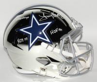 Tony Dorsett Signed Dallas Cowboys Full-Size Chrome Speed Helmet with Multiple Inscriptions (Beckett COA)