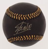 Stan Lee Signed Black Leather OML Baseball (JSA COA)