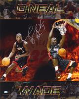 "Dwyane Wade Signed Miami Heat 16x20 Photo Inscribed ""Flash"" (Mounted Memories COA)"