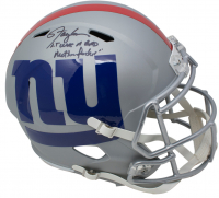 "Lawrence Taylor Signed New York Giants AMP Alternate Full-Size Speed Helmet Inscribed ""LT Was a Bad M***** F*****"" (PSA COA)"