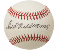 Ted Williams Signed OAL Baseball (Beckett LOA)