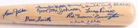 "Louisville Slugger ""Negro Leagues"" Custom Engraved Baseball Bat Signed by (23) with Monte Irvin, Butch McCord, Armando Vazquez, Warren Peace, Jim Zapp, Hubert Simmons, Stan Glenn Inscribed ""HOF-73"" (JSA COA)"