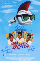 "Charlie Sheen, Corbin Bernsen, & Tom Berenger Signed ""Major League"" 12x18 Movie Poster Inscribed ""Taylor"" & ""Dorn"" (Beckett COA) at PristineAuction.com"