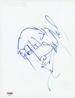 Stefan Lessard Signed 8x10 Photo Paper with Hand-Drawn Sketch (PSA Hologram) at PristineAuction.com