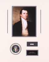 James Monroe 16x20 Custom Matted Cut Display with (1) Hand-Written Word from Letter (Beckett LOA Copy)
