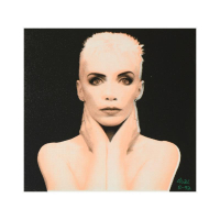 """Ringo Signed """"Annie Lennox"""" 15x15 One-of-a-Kind Hand Pulled Silkscreen on Canvas at PristineAuction.com"""