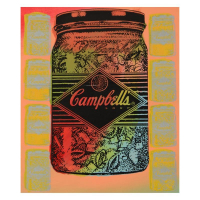 "Steve Kaufman Signed ""Campbell's Soup"" Hand Painted Limited Edition 11x15 Silkscreen on Canvas, TP #12/50"