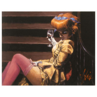 "Fabian Perez Signed ""Cortigiana Su Le Scale"" Hand Textured Limited Edition 20x25 Giclee on Canvas AP #3/20 at PristineAuction.com"