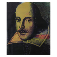 "Steve Kaufman Signed ""Shakespeare"" Hand Painted Limited Edition 40x48 Silkscreen on Canvas #102/195 at PristineAuction.com"