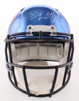 J.J. Watt Signed Houston Texans Full-Size Chrome Speed Helmet (JSA COA & Watt Hologram)