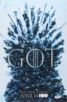 """""""Game of Thrones"""" 12x18 Photo Cast-Signed by (4) with Maisie Williams, Jacob Anderson, Nikolaj Coster-Waldau & Conleth Hill (PSA LOA)"""