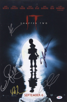 """IT Chapter Two"" 12x18 Photo Cast-Signed by (5) with James McAvoy, Bill Hader, Isaiah Mustafa, Jessica Chastain & Andy Muschietti (PSA LOA) at PristineAuction.com"