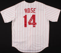 "Pete Rose Signed Phillies Jersey Inscribed ""Hit King"" (PSA Hologram) at PristineAuction.com"