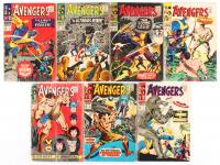 """Lot of (7) 1966-67 """"Avengers"""" #34-#40 1st Series Marvel Comic Books"""