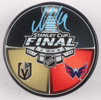 Nicklas Backstrom Signed 2018 Stanley Cup Final Logo Hockey Puck (Fanatics Hologram)