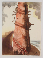 "Salvador Dali LE ""Vol. 2 The Biblia Sacra: Turris Babel 1967 Rizzoli Editions Italy"" 14x19 Lithograph at PristineAuction.com"