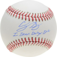 "Cody Bellinger Signed OML Baseball Inscribed ""I Bleed Dodger Blue"" (Fanatics Hologram) at PristineAuction.com"