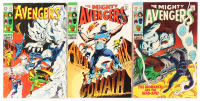 "Lot of (3) 1969 ""Avengers"" #61, #62, & #63 1st Series Marvel Comic Books at PristineAuction.com"
