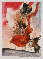 "Salvador Dali LE ""Vol. 2 The Biblia Sacra: Cadaver in Sepulchro Elisei 1967 Rizzoli Editions Italy"" 14x19 Lithograph"