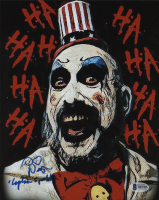 "Sid Haig Signed ""The Devil's Rejects"" 8x10 Photo Inscribed ""Captain Spaulding"" (Beckett COA)"