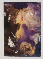 "Salvador Dali LE ""Vol. 2 The Biblia Sacra: Ego Sum Dominus Deus Tuus 1967 Rizzoli Editions Italy"" 14x19 Lithograph"