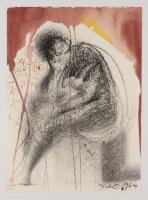 "Salvador Dali LE ""Vol. 2 The Biblia Sacra: Sedet Sola Civitas Plena Poupolo 1967 Rizzoli Editions Italy"" 14x19 Lithograph"