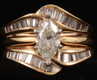 Contemporary 14kt Yellow Gold & Diamond (2) Two-Piece Wedding Set at PristineAuction.com
