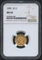 1905 $2.50 Liberty Head Gold Coin (NGC MS 64)