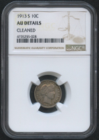 1913-S 10¢ Barber Dime (NGC AU Details) at PristineAuction.com