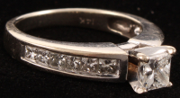 14kt White Gold & Diamond Cathedral Style Engagement Ring at PristineAuction.com